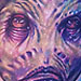 Alien Sculpture Color Portrait Tattoo Design Thumbnail
